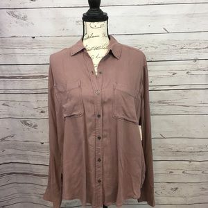 A78-Mudd NWT medium pink button down